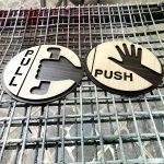 Làm biển Push & Pull gắn cửa theo yêu cầu lấy ngay tại Hà Nội