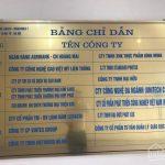 Làm biển số tầng, số nhà chung cư khách sạn đẹp giá rẻ tại Hà Nội