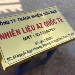 Làm Biển inox ăn mòn giá rẻlấy ngay tại Hà Nội – giao miễn phí