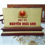 Làm biển chức danh quân đội giá rẻ lấy ngay tại Hà Nội