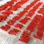 Làm chữ nổi inox sơn hấp nhiệt giá rẻ tại Hà Nội