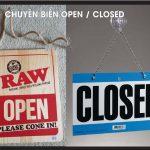 Làm Biển Open-Close, Giờ đóng – mở cửa đẹp giao tận nơi miễn phí