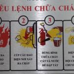Sản xuất bảng tiêu lệnh PCCC giá rẻ tại Hà Nội – trên mọi chất liệu