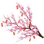 Download Vector Cành hoa đào trang trí Tết Tân Sửu 2021 File CDR